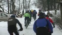 2. ročník zimního závodu horských kol Ledový kafe