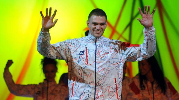 Olympijské oblečení snoubí sport s abstraktními liniemi