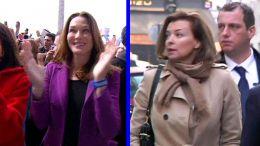 Partnerky francouzských kandidátů