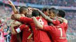 Hráči Bayernu Mnichov při výhře nad Düsseldorfem