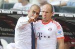 Pep Guardiola a Arjen Robben