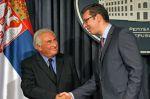 Dominique Strauss-Kahn a Aleksandar Vučić