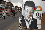Billboard Tomia Okamury po volbách 2013
