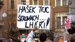 Demonstrace na podporu Bohuslava Sobotky v Brně