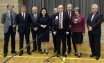 Vyjednávací týmy ČSSD a hnutí ANO po schůzce v Prů…