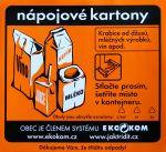 Oranžová samolepka nápojových kartonů