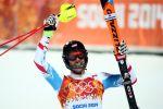 Rakouský lyžař Mario Matt slaví olympijs...
