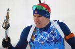 Norský biatlonista Emil Hegle Svendsen při olympijské smíšené štafetě v Soči