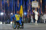 Vlajkonoš ukrajinské paralympijské výpravy