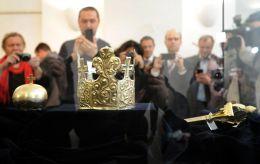 Pohřební insignie Přemysla Otakara II. na budějovi…