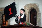 Vlajka husitské církve se symbolem kalichu