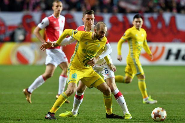 Propadák na závěr. Slavia vyhořela s Astanou a na jaře si v Evropské lize nezahraje