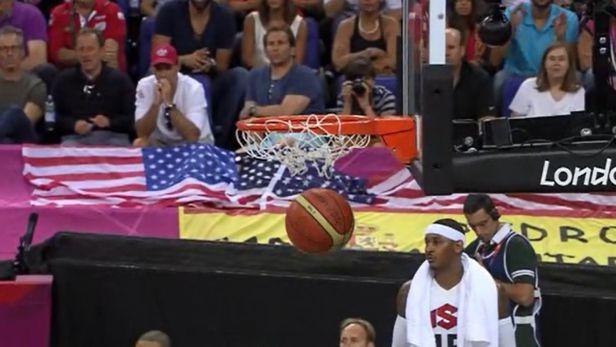 Z�znam fin�lov�ho z�pasu basketbalu USA proti �pan�lsku