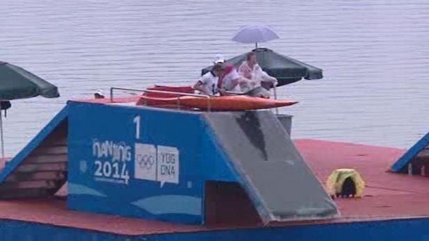 Vodn� slalom��ky vybojovaly na Hr�ch ml�de�e dal�� dv� medaile