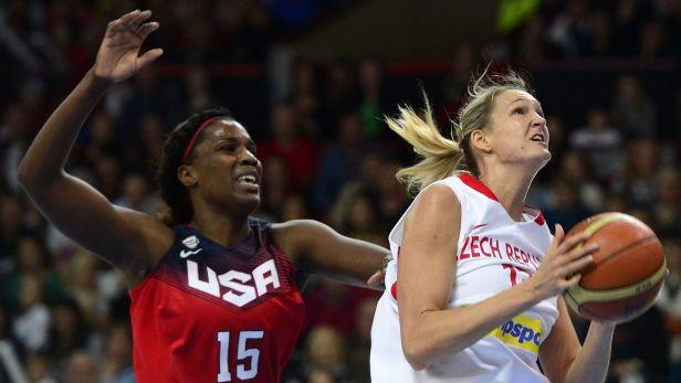 Sest�ih a ohlasy basketbalov�ho utk�n� �esko - USA