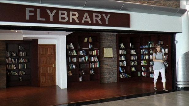 V leti�tn� knihovn� Flybrary knihy jen l�taj�