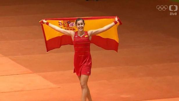Španělka Marínová jako první Evropanka ovládla olympijský badminton