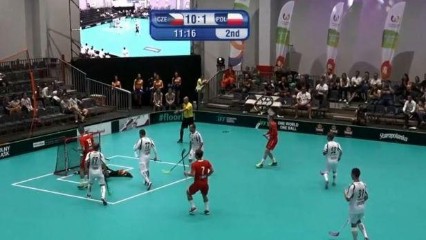 Florbalisté si zastříleli proti Polsku a v semifinále narazí na Švédy