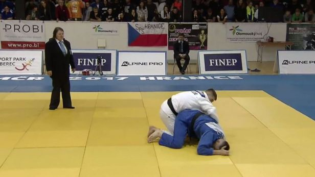 Judista Klammert splnil roli favorita a stal se MČR do 100 kg