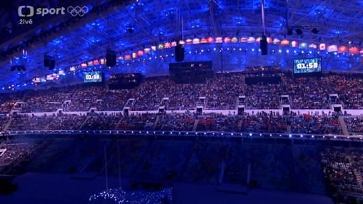 Zaplněný stadion Fišt
