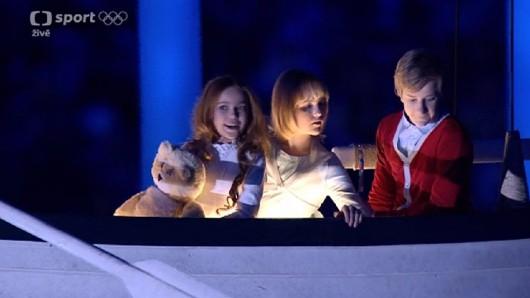 Ljubo, Valentina a Jurij během zakončení ZOH 2014
