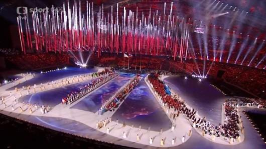 Olympijský stadion Fišt během zakončení ZOH 2014